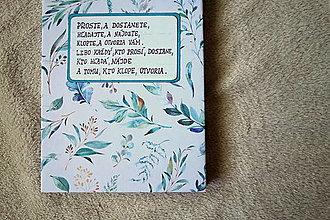 Papiernictvo - Ručne šitý zápisník- sketchbook s biblickým citátom - 13353870_
