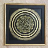 Obrazy - Netradičná čierno-zlatá mandala - 13354051_
