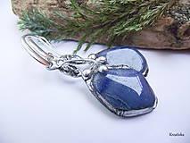 Náušnice - Len modrý......(modrý kremeň) - 13354067_