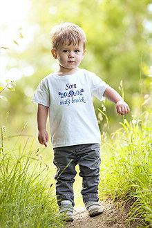 Detské oblečenie - Som malý braček - tričko - 13355495_