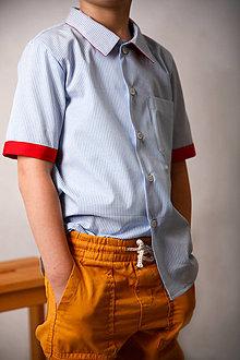 Detské oblečenie - Chlapčenská košeľa (veľ.122) - 13353387_