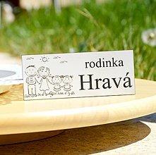 Tabuľky - Menovka - rodinka Hravá - 13354032_
