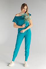 Iné oblečenie - Teplákový komplet (M/L - Petrolejová) - 13354212_