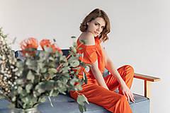 Iné oblečenie - Teplákový komplet (M/L - Oranžová) - 13354229_