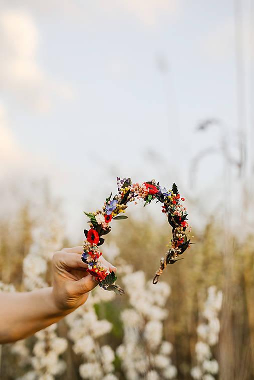 """Kvetinový folk polvenček """"šťastná s tebou"""""""