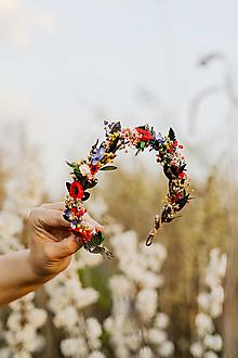 """Ozdoby do vlasov - Kvetinový folk polvenček """"šťastná s tebou"""" - 13353890_"""