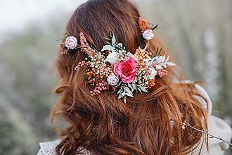 """Ozdoby do vlasov - Kvetinová aplikácia """"večery s vôňou lásky"""" - 13353911_"""