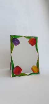 Zrkadlá - Zrkadlo sklomaľba - 13354072_