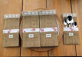 Úžitkový textil - Vrecko na príbor s iniciálkami - 13353127_
