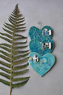 Dekorácie - anjel v okienku tyrkysová príroda - 13353757_