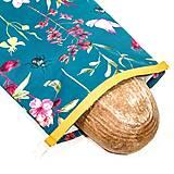 Úžitkový textil - Vrecko na chleba s membránou - Rastliny - 13354465_