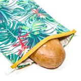 Úžitkový textil - Vrecko na chleba s membránou - Zelená džungľa - 13354505_