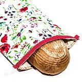 Úžitkový textil - Vrecko na chleba s membránou - Lúčna láska - 13354524_