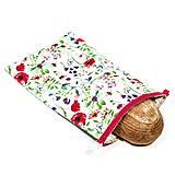 Úžitkový textil - Vrecko na chleba s membránou - Lúčna láska - 13354525_