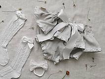 Detské oblečenie - Ľanové čukotky s volánom a čipkou - 13355822_