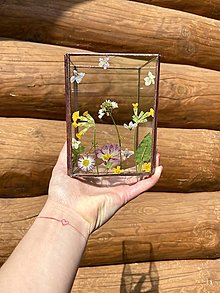 Svietidlá a sviečky - Svietnik s jarnými kvetmi - 13355445_