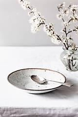 Nádoby - Miska biela kropenatá - 13355241_