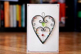 Papiernictvo - pohľadnica dve srdcia - 13353066_