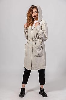 Kabáty - Ľanový kabátik Božica M - 13358627_