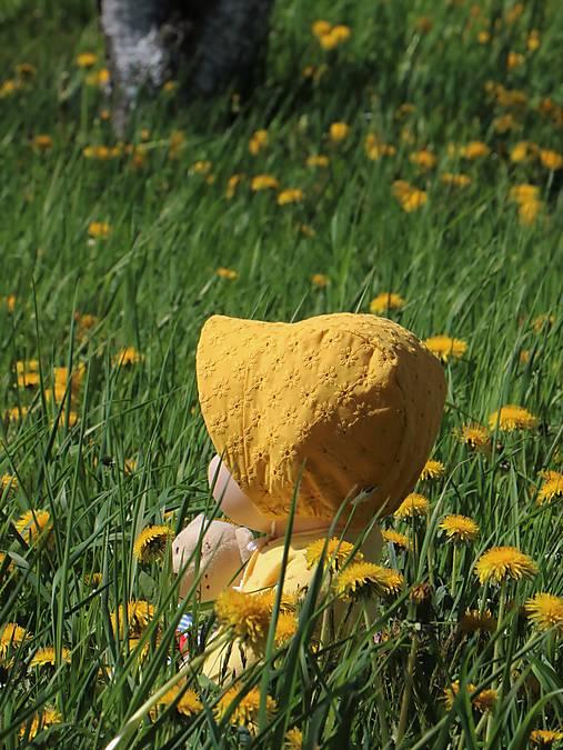 Detský čepček Nina žltý