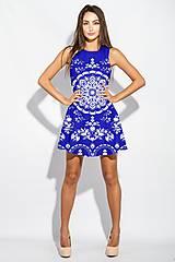 Šaty - FLORAL FOLK -  šaty v dĺžke midi s vačkami (mandarínka s bielou) - 13357021_