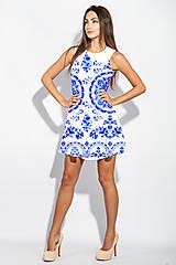 Šaty - FLORAL FOLK -  šaty v dĺžke midi s vačkami (mandarínka s bielou) - 13357035_