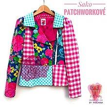 Kabáty - Sako patchworkové - 13356978_