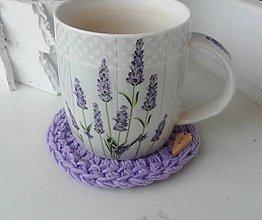 Úžitkový textil - Podšálka Lavender - 13356630_