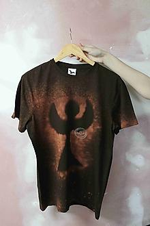 Tričká - Tričko _T-shirt_batik_L_uni_brown - 13358650_