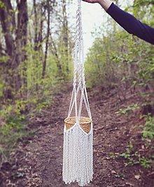 Dekorácie - Makramé závesný držiak na kvety WONDERFUL - 13357005_