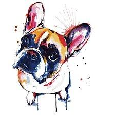 Galantéria - Nažehľovačka psík 10 x 14 cm - 13357020_