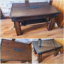 Nábytok - Konferečný stolik starec - 13357247_