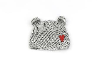 Detské čiapky - Šedá čiapka macko srdiečko zimná EXTRA FINE - 13358674_