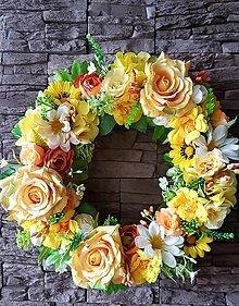 """Dekorácie - Jarný veniec """"V žltom šate"""" - 13359610_"""