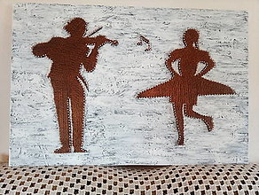 Obrazy - Tanecnica a huslista - 13359405_