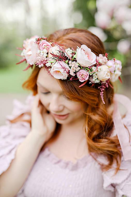 """Kvetinový boho venček """"čas na lásku"""""""
