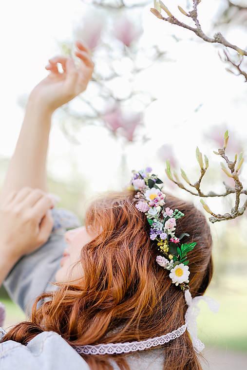"""Kvetinový venček """"ľúbiť ťa smiem"""""""