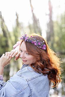 """Ozdoby do vlasov - Kvetinový polvenček """"keď láska vonia po fialkách"""" - 13357208_"""