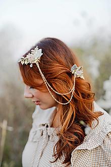 """Ozdoby do vlasov - Vintage dvojhrebienok """"s tebou v srdci"""" - 13357370_"""