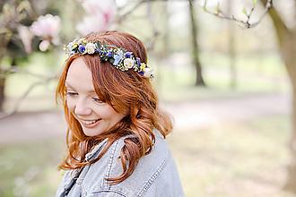 """Ozdoby do vlasov - Kvetinový polvenček """"v lúke skryté"""" - 13358868_"""