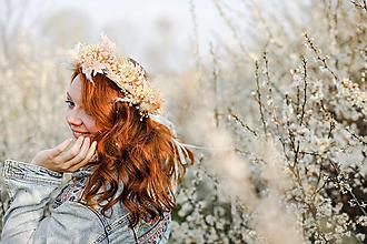 """Ozdoby do vlasov - Kvetinový boho venček """"skroť si ma"""" - 13358970_"""
