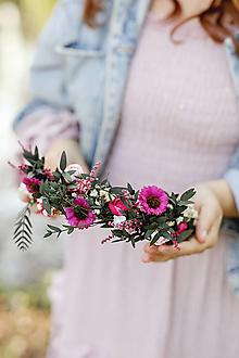 """Ozdoby do vlasov - Kvetinový polvenček """"príbehy, čo vypovie stmievanie"""" - 13359093_"""