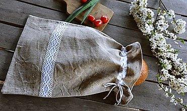 Úžitkový textil - Vrecko na chlieb - 13356842_