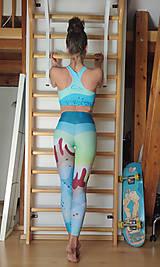 Topy - Sporty world green - športová bra - 13359138_