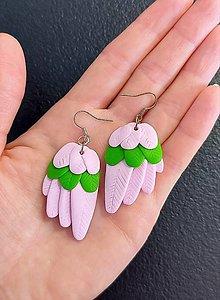 Náušnice - Náušnice krídla Pink - 13357116_