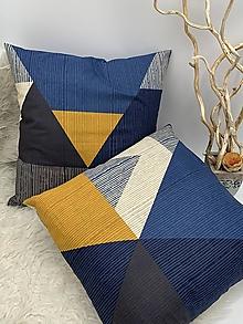 Úžitkový textil - DEKORAČNÝ VANKUŠ - OBLIEČKA mix farieb - 13337639_