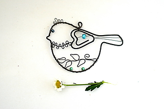 Dekorácie - vtáčik tyrkysový - 13356695_