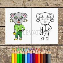 Hračky - Koala omaľovánka - Anna - 13357665_