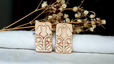 Náušnice - keramické náušnice č.389_ vtáčence - 13360620_