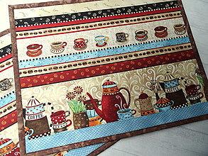 Úžitkový textil - Coffee Time ... prestieranie - 13361274_